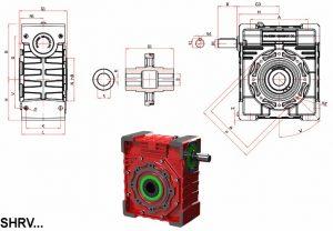 مشخصات گیربکس حلزونی شاکرین سری RV