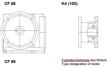 ورودی گیربکس حلزونی فلندر