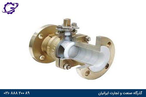 شیر گازی برنجی ball valve brenji