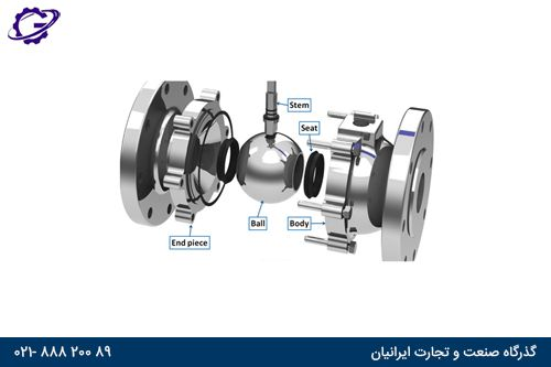 اجزا شیر توپی detail ball valve
