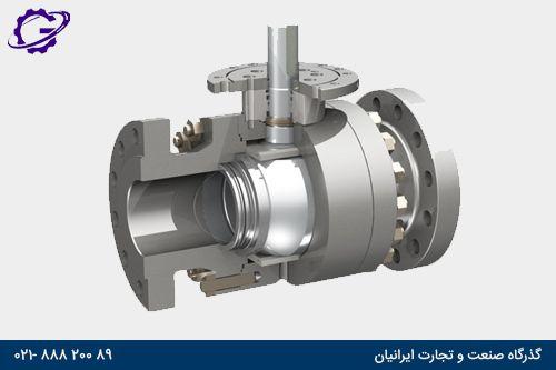 ورودی شیر توپی از پایین intro in down ball valve