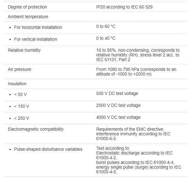 تصویر مشخصات فنی پی ال سی زیمنس مدل SIMATIC S7-300