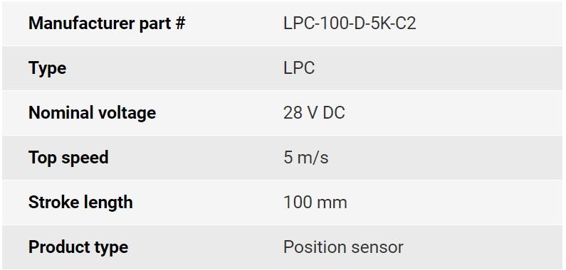 تصویر مشخصات فنی انکودر خطی اپکن مدل LPC