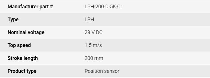 تصویر مشخصات فنی انکودر خطی اپکن مدل LPH