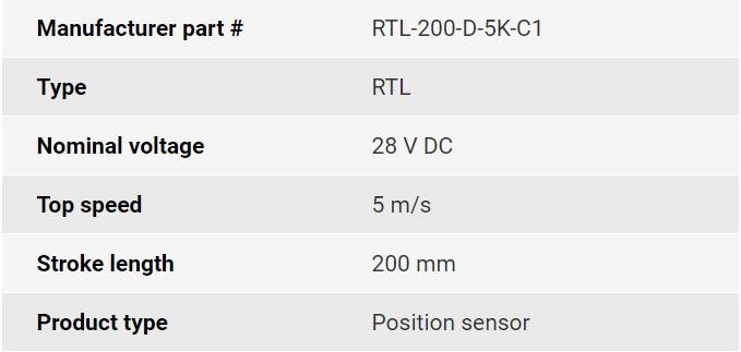تصویر مشخصات فنی انکودر خطی اپکن مدل RTL