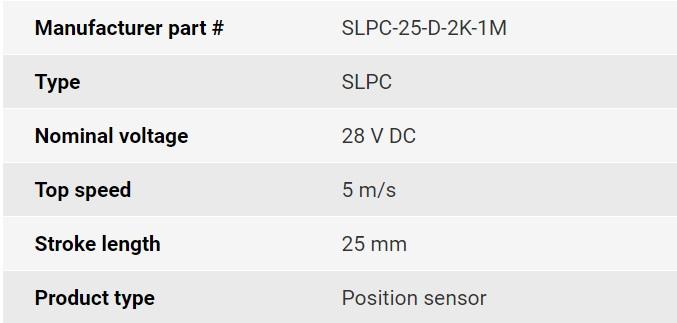 تصویر مشخصات فنی انکودر خطی اپکن مدل SLPC