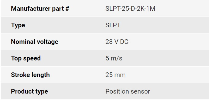 تصویر مشخصات فنی انکودر خطی اپکن مدل SLPT