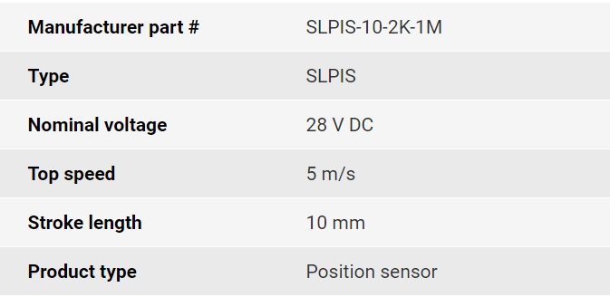 تصویر مشخصات فنی انکودر خطی اپکن مدل SLPIS
