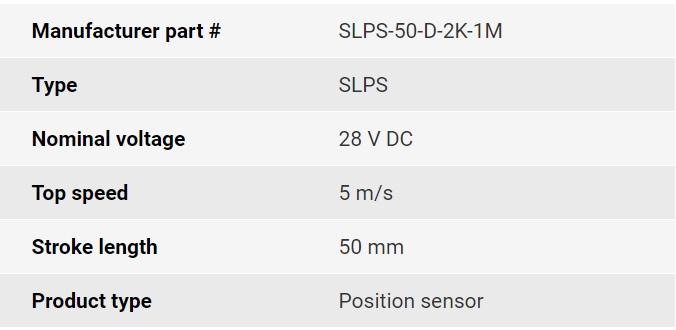 تصویر مشخصات فنی انکودر خطی اپکن مدل SLPS