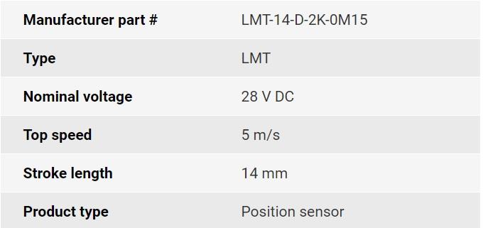 تصویر مشخصات فنی انکودر خطی اپکن مدل LMT