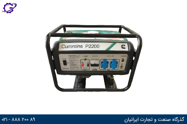 تصویر موتور برق بنزینی کامینز مدل  P2200