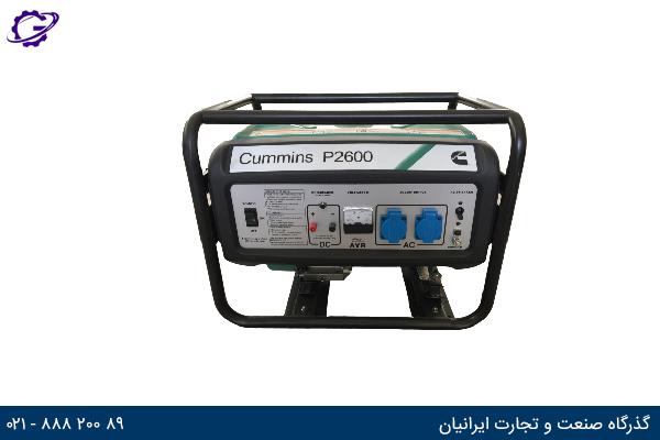 تصویر موتور برق بنزینی کامینز مدل  P2600