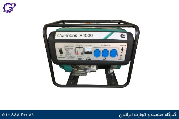 تصویر موتور برق بنزینی کامینز مدل  P450