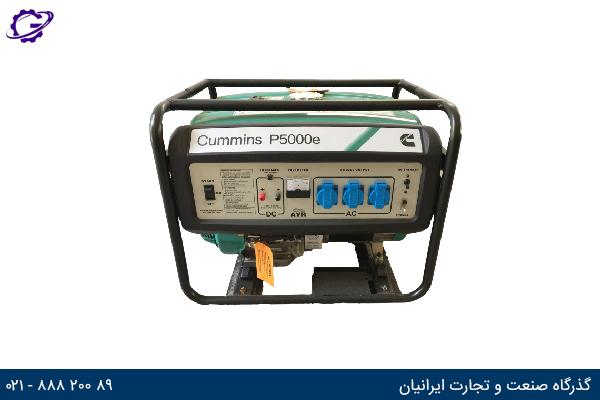 تصویر موتور برق بنزینی کامینز مدل  P5000e