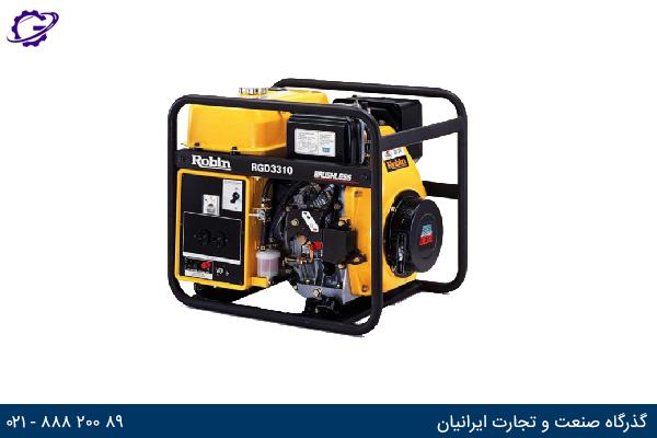 تصویر موتور برق دیزل روبین مدل RGD3310