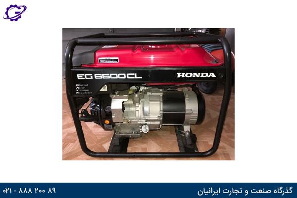 تصویر موتور برق بنزینی هوندا مدل  EG6500CL