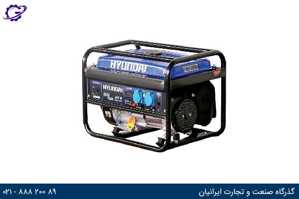 تصویر موتور برق بنزینی هیوندای مدل  HG5360-PG