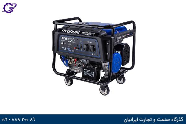 تصویر موتور برق بنزینی هیوندای مدل  HG9650-PG