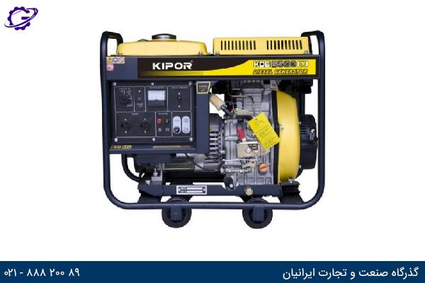 تصویر موتور برق دیزل کیپور مدل KDE6500E3
