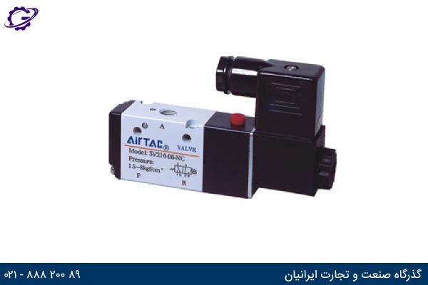 تصویر شیر برقی کنترل جهت ایرتک مدل 3V200