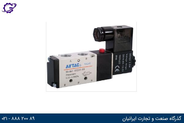 تصویر شیر برقی کنترل جهت ایرتک مدل 4V200