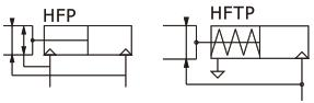 تصویر نماد شماتیک چنگک پنوماتیک ایرتک سری HFR