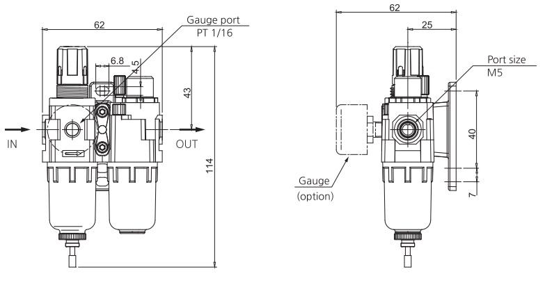 تصویر ابعاد واحد مراقبت SKP مدل SAU 110