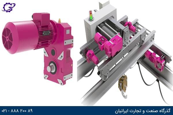 تصویر گیربکس جرثقیل (Crane Gearbox) سری V ایلماز