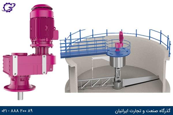 تصویر گیربکس فاضلاب (Wastewater Gearbox) سری DR ایلماز